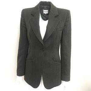 Armani structured peak-lapel wool Blazer/Jacket